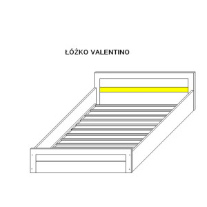 Łóżko VS7 (pasuje materac 200x160cm)